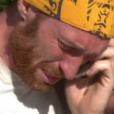 """Maxime téléphone à ses proches - """"Koh-Lanta Fidji"""" sur TF1. Le 29 septembre 2017."""