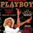 Goldie Hawn en couverture de Playboy, en 1985.