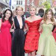 """Sarah Jessica Parker, Kim Cattrall, Kristin Davis et Cynthia Nixon à l'avant-première du film """"Sex And The City"""" à Londres le 12 mai 2008"""