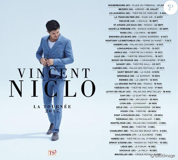 Vincent Niclo, la tournée 2017.