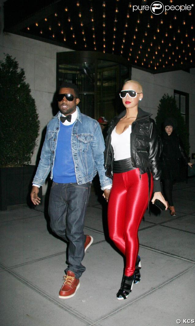Kanye West et sa chérie Amber Rose