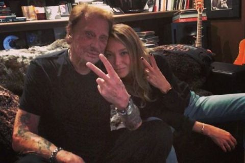 Johnny Hallyday : Tendre moment d'amour avec Laura Smet