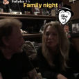 Johnny Hallyday en studio avec sa fille Laura Smet, à Paris. Instagram, le 4 octobre 2017.
