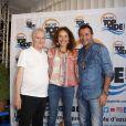 Daniel Prévost, Isabel Otero, Bernard Montiel - Ouverture du 6ème Festival Les Héros de la Télé à Beausoleil le 7 octobre 2017.