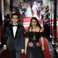 """Melusine Ruspoli et son frère Théodore défilent à Milan pour le """"Secret show"""" de la maison Dolce & Gabbana pour la collection printemps-été 2018 le 23 septembre 2017."""