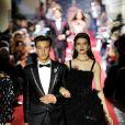 """Cameron Dallas et Sonia Ben Ammar défilent à Milan pour le """"Secret show"""" de la maison Dolce & Gabbana pour la collection printemps-été 2018 le 23 septembre 2017."""