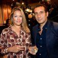 Exclusif - Zinedine Soualem et sa femme Caroline Faindt lors de l'inauguration de la boutique Fusalp, boulevard Saint-Germain à Paris le 28 septembre 2017. © Rachid Bellak / Bestimage