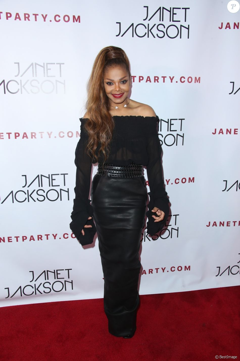 "Janet Jackson à la soirée ""State Of The World"" au club Lure à Los Angeles, le 8 octobre 2017."