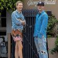 Exclusif - Adam Levine et sa femme Behati Prinsloo au restaurant Giorgio Baldi à Santa Monica, le 23 juin 2017.