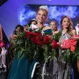 """Election de """"Miss Wheelchair World 2017"""" à Varsovie. La 1ère édition de cette compétition invite """"à changer l'image des femmes en fauteuil roulant"""". 24 jeunes femmes de 19 pays ont concouru pour décrocher le titre de Miss Monde en fauteuil roulant. La Bélarusse Alexandra Chichikova a été sacrée. Varsovie, le 7 octobre 2017."""