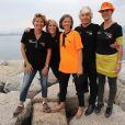 Exclusif - Daniel Guichard (Parrain de la 11ème édition des Journées de la Marie-Do) et sa femme Christine Guichard, Blanche (bénévole de l'association) - 11ème édition des Journées de la Marie-Do sur la Place Miot à Ajaccio, le 1er octobre 2017.