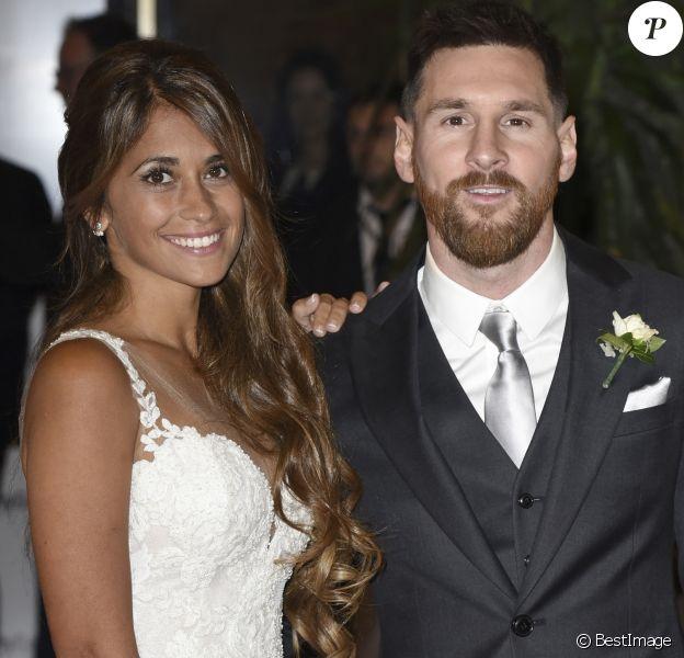 Mariage de Lionel Messi et de Antonella Roccuzzo au City Center à Rosario, le 30 juin 2017.