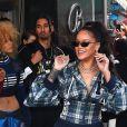 Rihanna arrive au Fenty Pep Rally à New York le 13 octobre 2017.