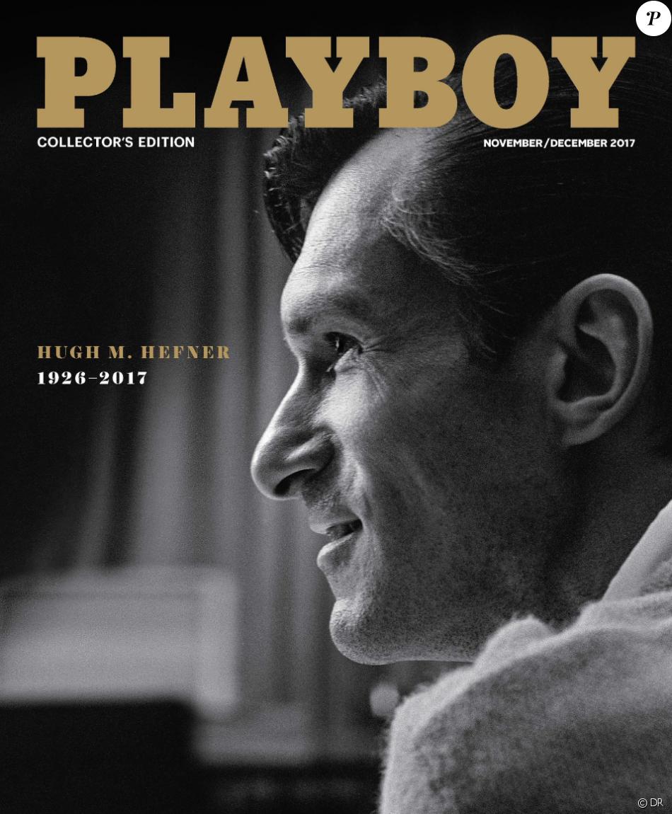 Hiugh Hefner, en couverture de Playboy - novembre/décembre 2017.