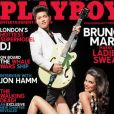 Bruno Mars en couverture de Playboy, avril 2012.