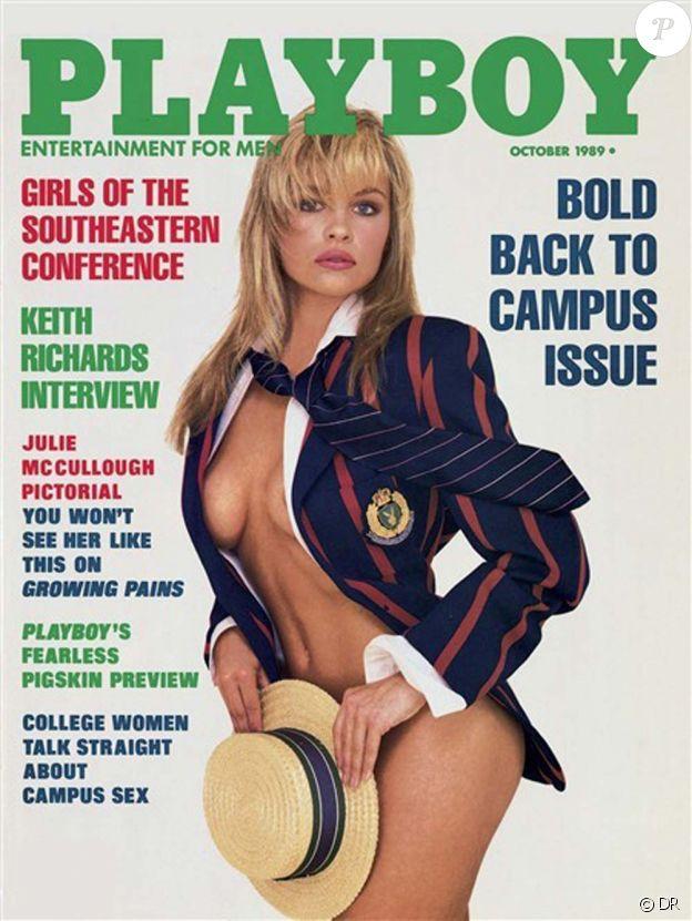 Pamela Anderson pour le magazine Playboy, octobre 1989