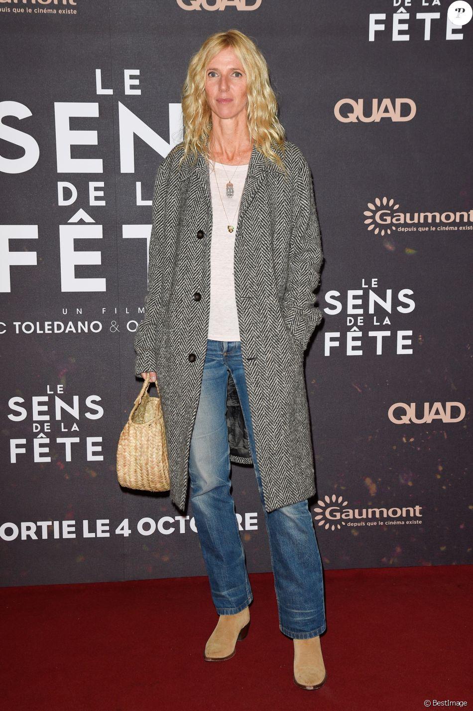 """Sandrine Kiberlain - Avant-première du film """"Le sens de la fête"""" au Grand Rex à Paris le 26 septembre 2017. © Coadic Guirec/Bestimage"""