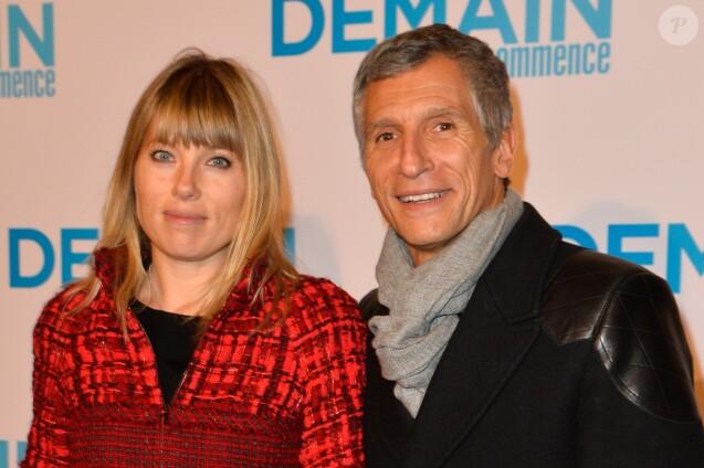 """Nagui et sa femme Mélanie Page à l'avant première du film """"Demain tout commence"""" au Grand Rex à Paris le 28 novembre 2016. © Coadic Guirec/Bestimage"""