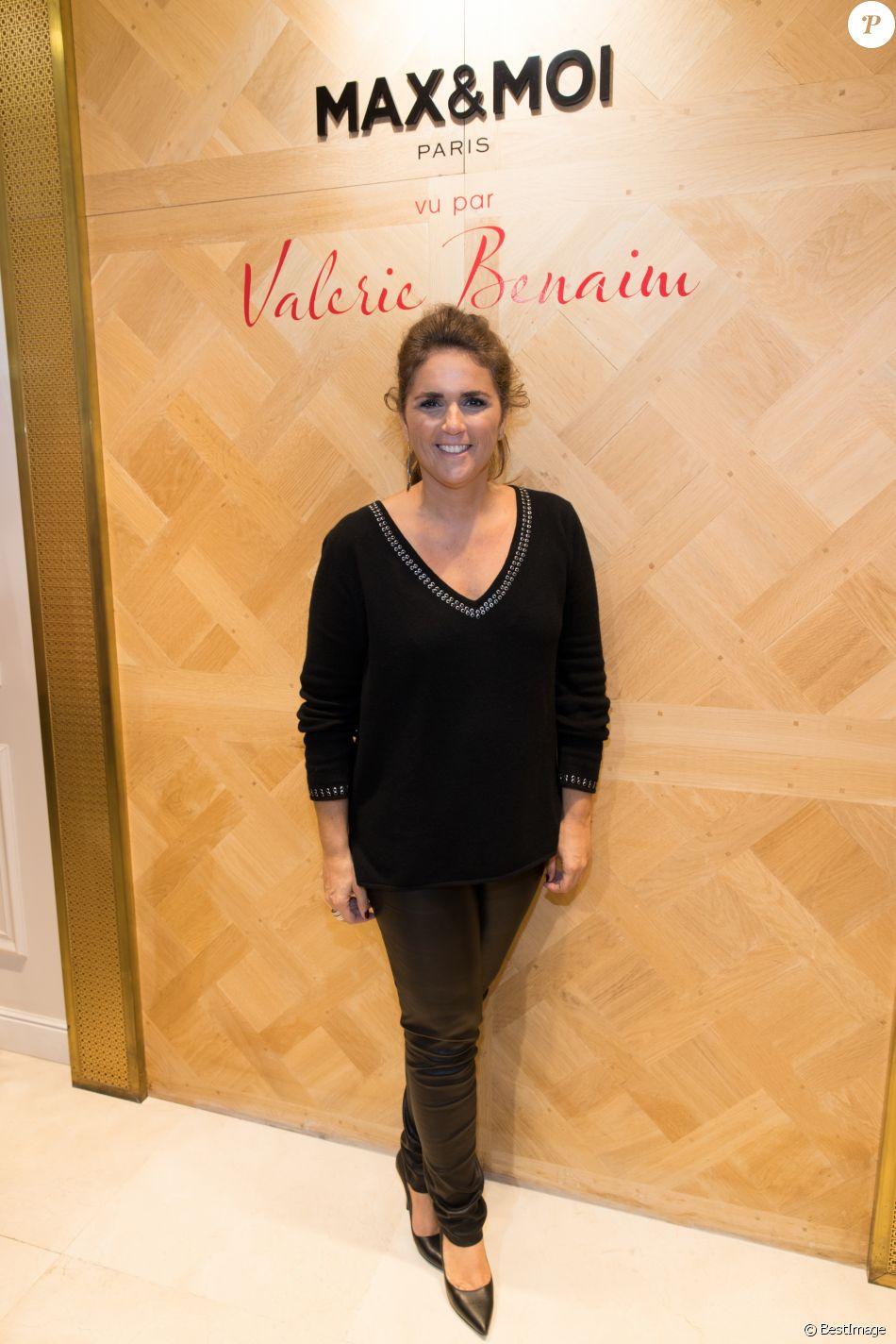 """Exclusif - Valérie Bénaïm - Lancement de la collection capsule """"Max & Moi vu par Valérie Benaïm"""" à Paris, le 20 octobre 2017.© Cyril Moreau/Bestimage"""