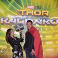 """Marie Denigot-Hamon et guest - Avant-première du film """"Thor Ragnarok"""" au cinéma Le Grand Rex à Paris, France, le 22 octobre 2017. © Giancarlo Gorassini/Bestimage"""