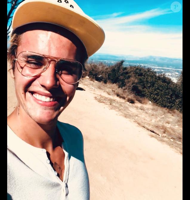 Justin Bieber en randonnée à Los Angeles. Octobre 2017.