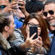 "Russell Crowe arrive au photocall du film ""The Mummy"" au World Square à Sydney, Ausyralie, le 23 mai 2017."