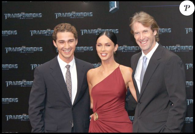 "Shia Labeouf, Megan Fox et Michael Bay - Première du film ""Transformers : La Revanche"" au Sony Center de Berlin le 14 juin 2009 ."