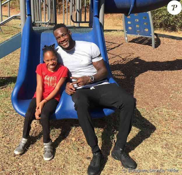 Deontay Wilder et sa fille aînée handicapée, le 27 octobre 2016.