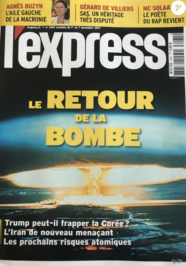 L'Express en kiosques le 31 octobre 2017.