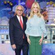 """""""Paolo de Cesare, président du PRINTEMPS, et Nicole Kidman inaugurent les vitrines de Noël de PRINTEMPS Haussmann. Paris, le 7 novembre 2017."""""""