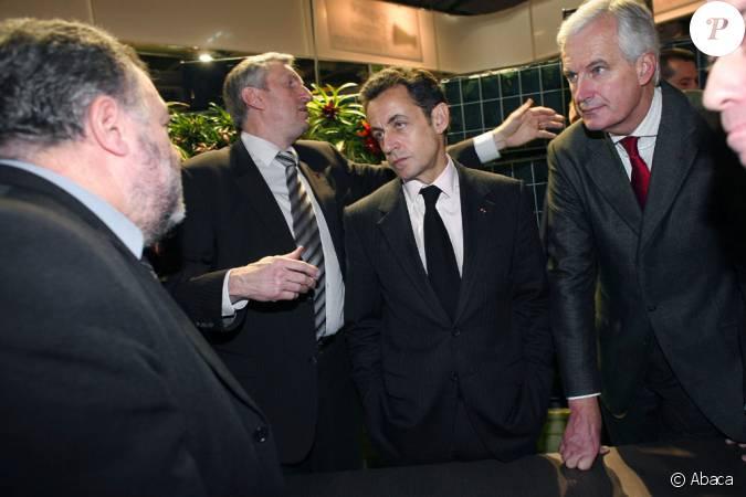 Nicolas sarkozy et michel barnier ministre de l for Sarkozy salon agriculture