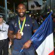 Teddy Riner - Arrivées des athlètes des jeux olympiques de Rio 2016 à l'aéroport de Roissy le 23 août 2016.