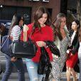 "Tiffany Amber Thiessen arrive à l'émission ""Today"" à New York le 28 août 2017."