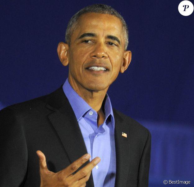 Barack Obama soutient la candidature de Phil Murphy au poste de gouverneur du New Jersey le 19 octobre 2017.