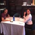 """Cristiano Ronaldo et Georgina Rodriguez déjeunant chez Tatel à Madrid en octobre 2017, photo Instagram"""