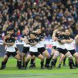 Les All Blacks font leur traditionnel Haka avant la rencontre France - Nouvelle Zélande (18-38) au stade de France à Saint-Denis le 11 novembre 2017. © Cyril Moreau / Bestimage