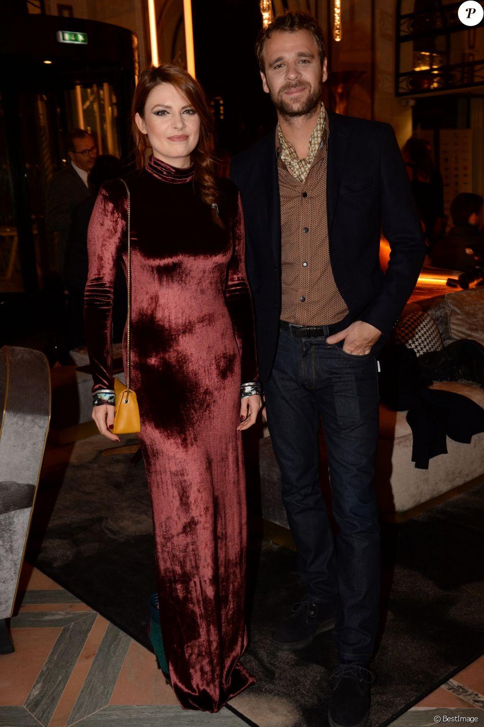 Exclusif - Elodie Frégé et son compagnon Cyril Mokaiesh au cocktail lors de la clôture de la 4ème édition le Festival du Cinéma et Musique de Film de La Baule, France, le 12 novembre 2017. © Rachid Bellak/Bestimage
