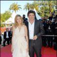 Patrick Bruel et Amanda Sthers lors du Festival de Cannes 2007