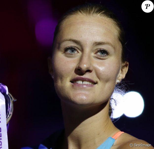 Kristina Mladenovic remporte le tournoi de Saint-Pétersbourg, le 5 février 2017.