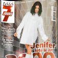 """Jenifer fait la couverture du 3 000 ème numéro de """"Télé 7 Jours"""", en kiosques lundi 20 novembre 2017."""
