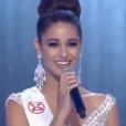 """""""Aurore Kichenin, dans le Top 5 de Miss Monde 2017. La gagnante est Miss Inde,  Manushi Chillar. Novembre 2017. """""""