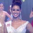 """""""Aurore Kichenin, dans le Top 5 de Miss Monde 2017. La gagnante est Miss Inde, Manushi Chillar. Novembre 2017."""""""