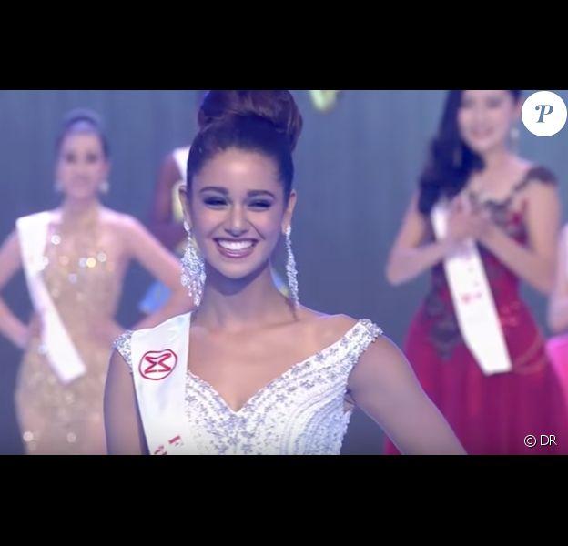 Aurore Kichenin, dans le Top 5 de Miss Monde 2017. La gagnante est Miss Inde, Manushi Chillar. Novembre 2017.