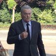 Semi-exclusif - Alain Delon - Obsèques du professeur Christian Cabrol en la chapelle de l'hôpital de la Pitié-Salpétrière à Paris le 22 juin 2017.