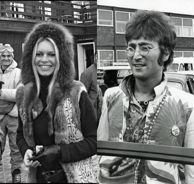 Brigitte Bardot / John Lennon (photomontage)