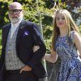 Gary Goldsmith et sa fille Tallulah, fruit de son deuxième mariage avec Luan, au mariage de Pippa Middleton à Englefield le 20 mai 2017. L'oncle de Kate Middleton comparaissait le 14 novembre 2017 devant un tribunal de Londres après avoir frappé sa femme Julie-Ann dans la soirée du 13 octobre.