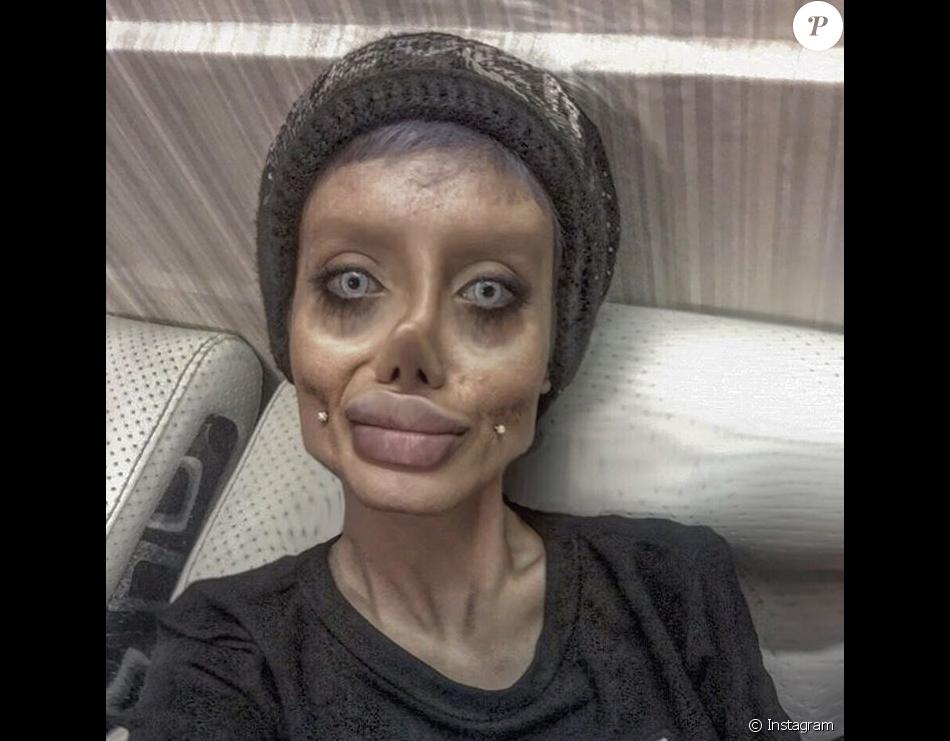 Sahar Tabar Pics >> Sahar Tabar, une jeune fan iranienne, fait tout pour ressembler à Angelina Jolie. Selon la ...
