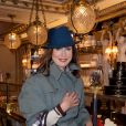 Exclusif - Elsa Zylberstein - Soirée d'inauguration du Café Pouchkine au 16, place de la Madeleine dans le 8ème arrondissement à Paris le 29 novembre 2017. © Julio Piatti/Bestimage