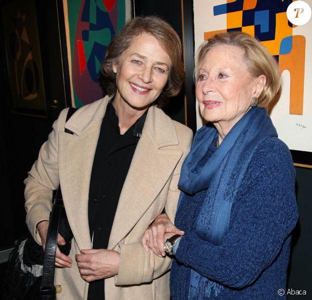 Charlotte Rampling et Michèle Morgan. 02/03/09