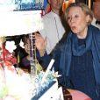 Michèle Morgan souffle ses bougies. 02/03/09
